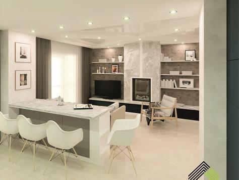 """Дизайн интерьера однокомнатной квартиры в Тюмени """"Работы"""""""
